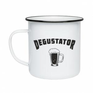 Enameled mug Beer taster