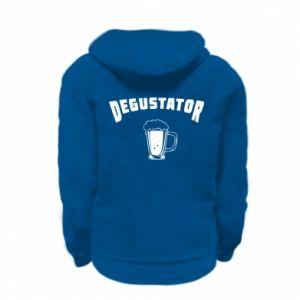 Bluza na zamek dziecięca Degustator piwa