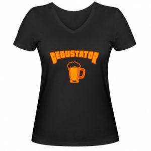 Koszulka V-neck damska Degustator