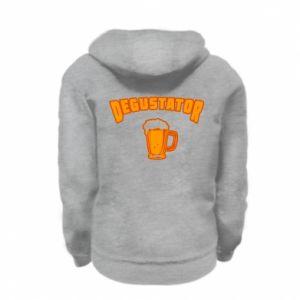 Kid's zipped hoodie % print% Taster