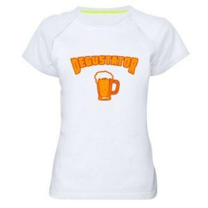 Damska koszulka sportowa Degustator