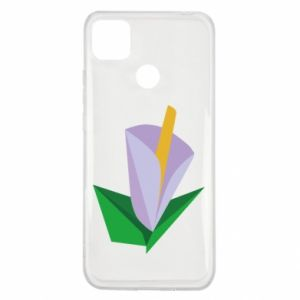 Etui na Xiaomi Redmi 9c Delicate lilac flower abstraction