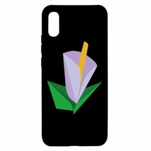Etui na Xiaomi Redmi 9a Delicate lilac flower abstraction