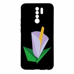 Etui na Xiaomi Redmi 9 Delicate lilac flower abstraction