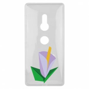 Etui na Sony Xperia XZ2 Delicate lilac flower abstraction
