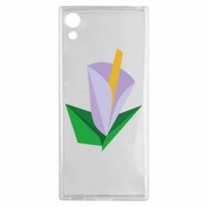 Etui na Sony Xperia XA1 Delicate lilac flower abstraction