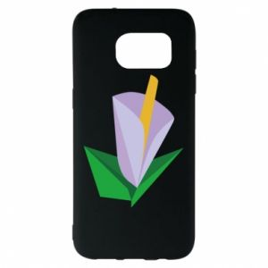Etui na Samsung S7 EDGE Delicate lilac flower abstraction