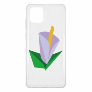 Etui na Samsung Note 10 Lite Delicate lilac flower abstraction