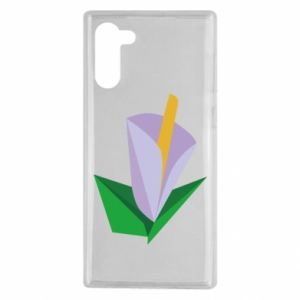Etui na Samsung Note 10 Delicate lilac flower abstraction