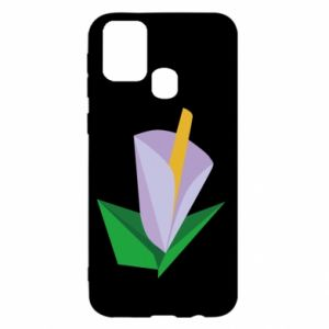 Etui na Samsung M31 Delicate lilac flower abstraction