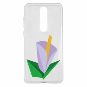 Etui na Nokia 5.1 Plus Delicate lilac flower abstraction