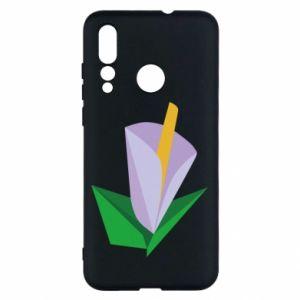 Etui na Huawei Nova 4 Delicate lilac flower abstraction