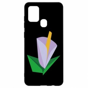 Etui na Samsung A21s Delicate lilac flower abstraction