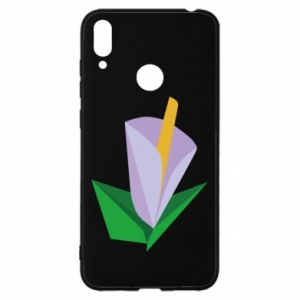 Etui na Huawei Y7 2019 Delicate lilac flower abstraction