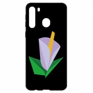Etui na Samsung A21 Delicate lilac flower abstraction