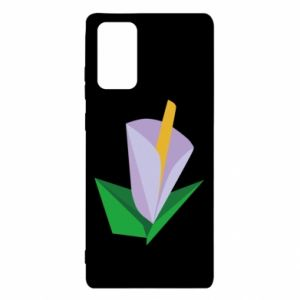 Etui na Samsung Note 20 Delicate lilac flower abstraction