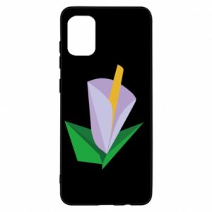 Etui na Samsung A31 Delicate lilac flower abstraction