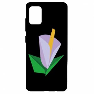 Etui na Samsung A51 Delicate lilac flower abstraction