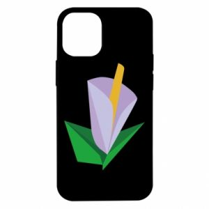 Etui na iPhone 12 Mini Delicate lilac flower abstraction