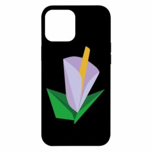 Etui na iPhone 12 Pro Max Delicate lilac flower abstraction
