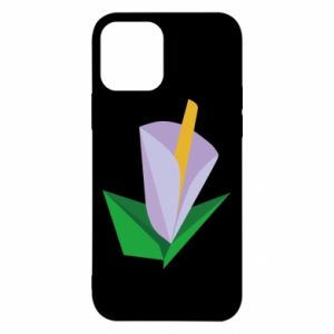 Etui na iPhone 12/12 Pro Delicate lilac flower abstraction