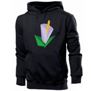 Men's hoodie Delicate lilac flower abstraction