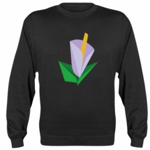 Bluza (raglan) Delicate lilac flower abstraction