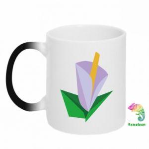 Kubek-kameleon Delicate lilac flower abstraction
