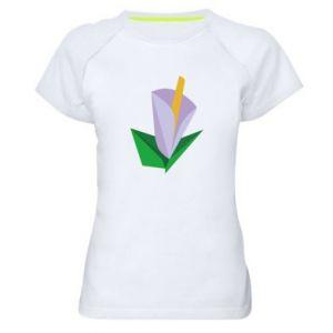 Koszulka sportowa damska Delicate lilac flower abstraction