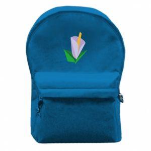 Plecak z przednią kieszenią Delicate lilac flower abstraction