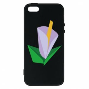 Etui na iPhone 5/5S/SE Delicate lilac flower abstraction