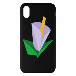 Etui na iPhone X/Xs Delicate lilac flower abstraction