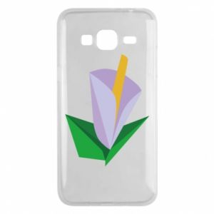 Etui na Samsung J3 2016 Delicate lilac flower abstraction