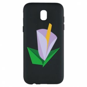 Etui na Samsung J5 2017 Delicate lilac flower abstraction