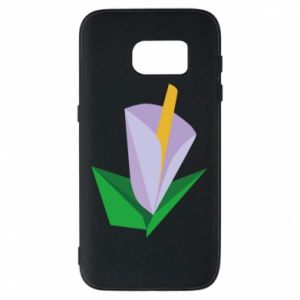 Etui na Samsung S7 Delicate lilac flower abstraction