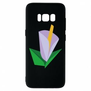 Etui na Samsung S8 Delicate lilac flower abstraction
