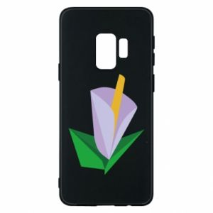 Etui na Samsung S9 Delicate lilac flower abstraction