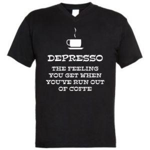 Męska koszulka V-neck Depresso
