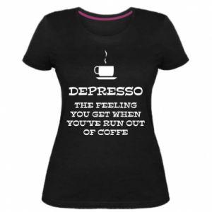 Damska premium koszulka Depresso