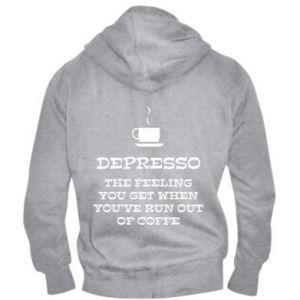 Męska bluza z kapturem na zamek Depresso