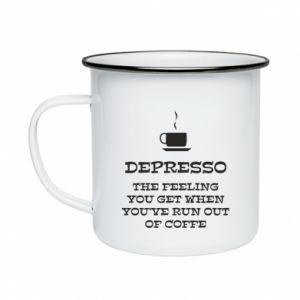 Enameled mug Depresso