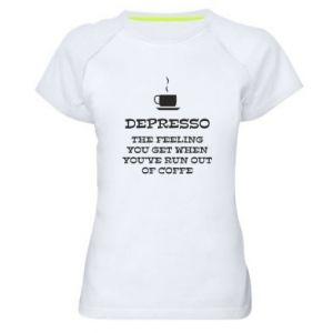 Women's sports t-shirt Depresso