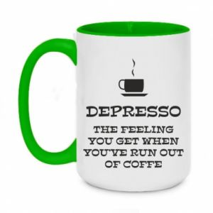 Two-toned mug 450ml Depresso