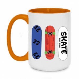 Two-toned mug 450ml Skate board