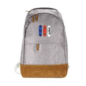 Urban backpack Skate board