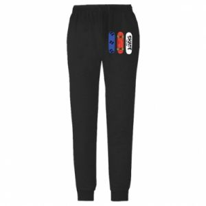 Męskie spodnie lekkie Deskorolka - PrintSalon