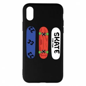 Phone case for iPhone X/Xs Skate board