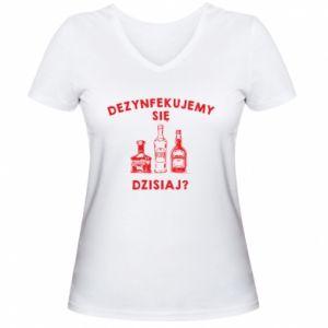 Women's V-neck t-shirt Disinfection