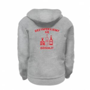 Kid's zipped hoodie % print% Disinfection