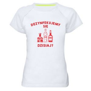 Women's sports t-shirt Disinfection